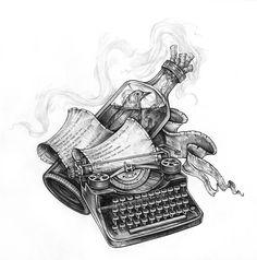 Velho Bukowski: Tattoo Blue Bird - Tatuaje basado en un poema de Bukowski. BRU-TAL