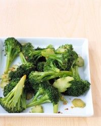 Sauteed Chinese Broccoli with Garlic Recipe | Martha Stewart