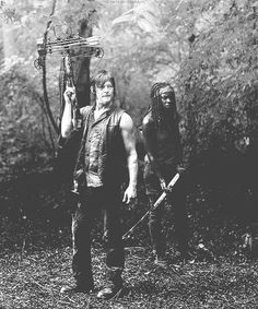 Daryl and Michonne....my two fave characters in the walking dead!
