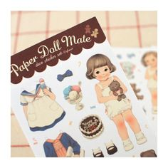Paper Doll Mate Pajama Stickers Opaque (◕ᴥ◕) Kawaii Panda - Making Life Cuter