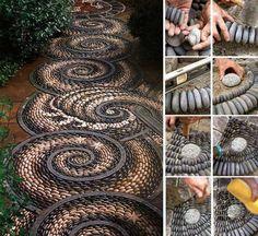 Amazing garden stone art!!