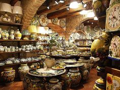 San Gimignano Pottery Shop