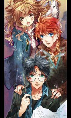 Harry potter anime fan art...