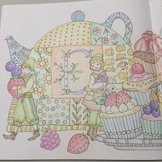 Instagram media yama814 - ロマカン3 「こびとたち」 左ページです。 * #ロマンティックカントリー #ファーバーカステル #ポリクロモス #ホルベイン #大人の塗り絵 #coloringbook #romanticcountrycoloringbook #fabercastellpolychromos