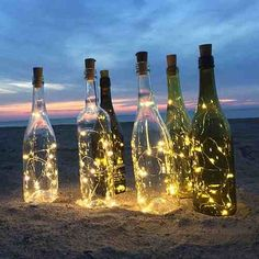 Cork Wine Bottle String Light Transform Empty Bottles Into Lovely Lamps With These Unique Bottle Lights! Add these ingenious and enchanting Cork Wine Bottle String Lights to empty wine bottles and create simply stunning decorative accents for any occasion Empty Wine Bottles, Lighted Wine Bottles, Bottle Lights, Glass Bottles, Wine Bottle Lighting, Led Bottle Light, Wine Bottle Centerpieces, Bottle Lamps, Wine Corker