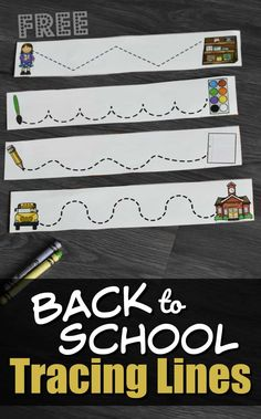 FREE Back to School Tracing Lines - this is such a fun pre writing activity for toddler, preschool, and kindergarten age kids Writing Activities For Preschoolers, Rhyming Activities, Preschool Lessons, Back To School For Preschoolers, Preschool First Day, First Day Of School Activities, Toddler Preschool, Fall Preschool, Tracing Lines