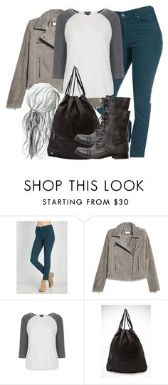 """Cora Inspired Outfit with Teal Jeans"" by veterization ❤ liked on Polyvore featuring MANGO, Topshop, Forever 21 and Steve Madden"