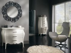 Mobile bathroom furniture white lacquered swarovskidesign Veneto - As Photos Bathroom Storage Units, Bathroom Drawers, Storage Cabinets, Fitted Bathroom Furniture, Wooden Bathroom Cabinets, Contemporary Bathrooms, Dresser As Nightstand, Home Decor, Louis Xvi