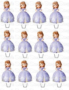 ... on Pinterest | Sofia The First, Cupcake Toppers and Princess Sofia
