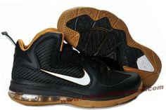 Nike Lebron 9 NBA Shoes Black White Gold New