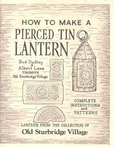 How to Make a Pierced Tin Lantern - pattern book - supply - destashing