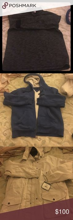 Clothes for sell • one man xl ck sweater, one small man sweater hoodie Tommy Hilfiger and one man large otek gear winter jacket all 3 for 80 Jackets & Coats