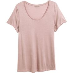 H&M+ Jersey top ($12) ❤ liked on Polyvore featuring tops, plus size, light pink, short sleeve tops, pink top, h&m tops, plus size short sleeve tops and jersey tops