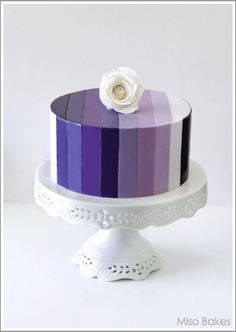 I might rescind my hate of fondant for this cake. And this cake only. Gorgeous Cakes, Pretty Cakes, Cute Cakes, Amazing Cakes, Fondant Cakes, Cupcake Cakes, Fondant Icing, Striped Cake, Kolaci I Torte
