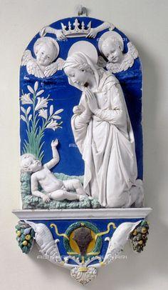 Bottega di Andrea Della Robbia - Madonna dei gigli - Museo Nazionale del Bargello a Firenze