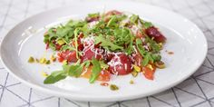Serve roasted beets with crunchy pistachios, ricotta salata, juicy blood orange segments and fresh arugula. Roasted Beets, Roasted Salmon, Roasted Carrots, Ricotta Salata Recipe, Salad Recipes, Picnic Recipes, Picnic Ideas, Picnic Foods, Fish Recipes