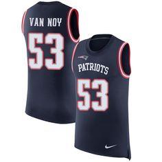 nike patriots 53 kyle van noy navy blue team color mens stitched nfl limited rush