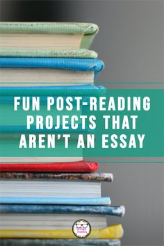 If you're finishing up a novel study or a round of independent reading, or need some fun book report ideas for middle or high school, consider one of these alternative projects for a post-reading assessment. Middle School Literature, Teaching Literature, Reading Projects, Reading Lessons, Reading Assessment, Poetry Unit, School Levels, Independent Reading, English Course