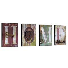 Kunterbuntes 4er Set Bilder von GINGAR. Mit dem coolen Schriftzug an Deiner Wand fühlt sich jeder bei Dir wie Zuhause.