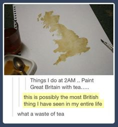 The most British thing…