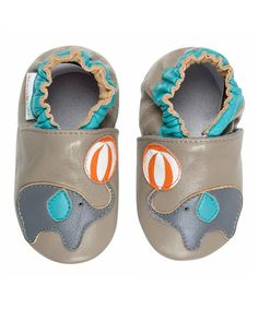 Love this Gray Elephant Leather Bootie on #zulily! #zulilyfinds