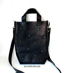 ნატურალური ტყავის ხელნაკეთი ჩანთა, დამზადებულია საქართველოში  Handmade leather handbag