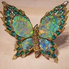 Turquoise Jewelry Necklace Absolutely breath-taking opal butterfly pin - Insect Jewelry, Butterfly Jewelry, Bird Jewelry, Opal Jewelry, Animal Jewelry, Turquoise Jewelry, Jewelry Design, Butterfly Pin, Jewellery