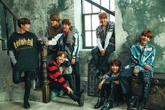 BTS X Seventeen Japanese Magazine // A happy cover is indeed a great look for BTS