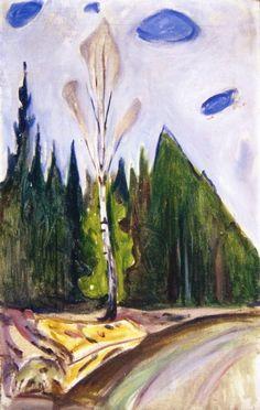 Edvard Munch, Early Spring on ArtStack #edvard-munch #art
