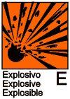 Explosivos: las sustancias y preparados sólidos, líquidos, pastosos o gelatinosos que, incluso en ausencia de oxígeno del aire, puedan reaccionar de forma exotérmica con rápida formación de gases y que, en condiciones de ensayo determinadas, detonan, deflagran rápidamente o, bajo el efecto del calor, en caso de confinamiento parcial, explotan. Identifica a aquellas sustancias que pueden hacer explosión por efecto de una llama, choque o fricción.