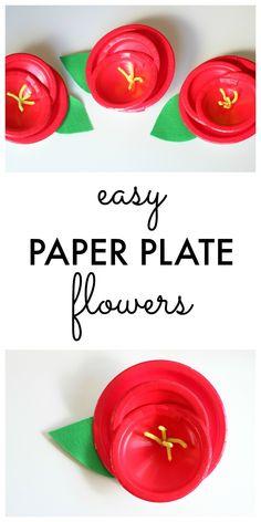 Paper Plate Flower C
