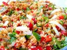 Turkish Salad: Bulgar wheat salad