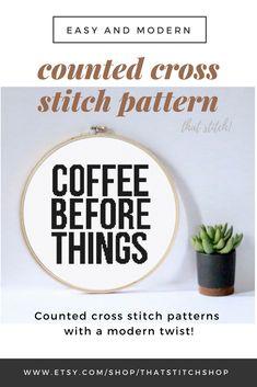 Crochet ideas for home gift cross stitch 29 ideas for 2019 Cross Stitch Kitchen, Simple Cross Stitch, Easy Cross, Cross Stitch Fabric, Cross Stitching, Cross Stitch Quotes, Stitch Shop, Funny Cross Stitch Patterns, Diy Wall