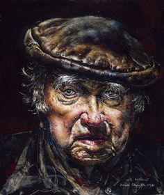 Art of Ivan Albright  Self-Portrait (No.3), 1981  Oil on hardboard