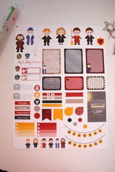 Weekly Planner Sticker Set Functional Planner by Mycubbyscorner