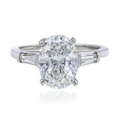 oval engagement rings with side stones - Google Search