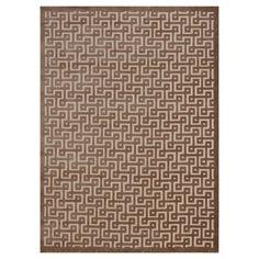 "Nourison Geometric Ladder Ultima Accent Rug - Ivory/Mocha (Ivory/Brown) (2'2""X3'9"")"