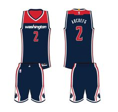 d0dff849a Washington Wizards Alternate Uniform 2015- Present Lifetime Basketball  Hoop