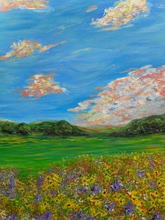 impressionism sunflower field 24x18x1.5 acrylic on canvas