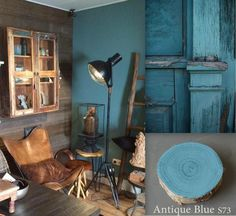 New colour. Antique blue.  www.paintingthepast.nl