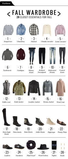 28 essentials for Fall