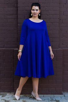 Платье-трапеция идеально для ж