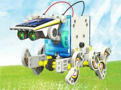 Educational Assembling DIY Solar Robots Kids Toys 14-in-1
