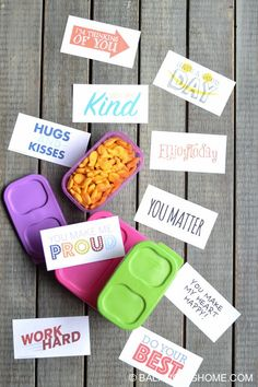 Printable lunch box notes & jokes. #backtoschool #BetterLunchInASnap