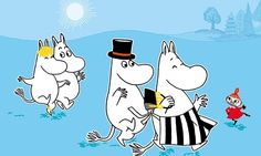 The Moomins concentrate on good manners, good coffee and enjoying the summer.