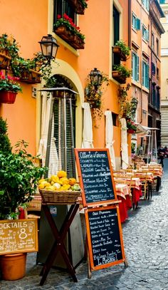 ROME, ITALY. Eat really good italian pasta with a glass of cold red wine. Take a stroll through the city.