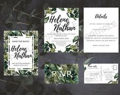 Tropical wedding invitation kit download