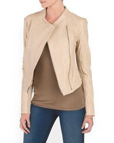 Leather Asymmetric Jacket