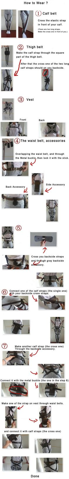 Attack on Titan Belt and Harness instructions.... I think I might Have to leave that out of my survey corp cosplay far to complex for me XD