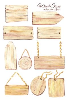 Watercolor Wood, Crafts For Kids, Arts And Crafts, Cafe Logo, Aesthetic Stickers, Wood Slices, Pretty Art, Clipart, Pointers